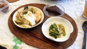 【野草料理】ドクダミ野草麻婆豆腐鍋とイヌタデプチプチチョコケーキ