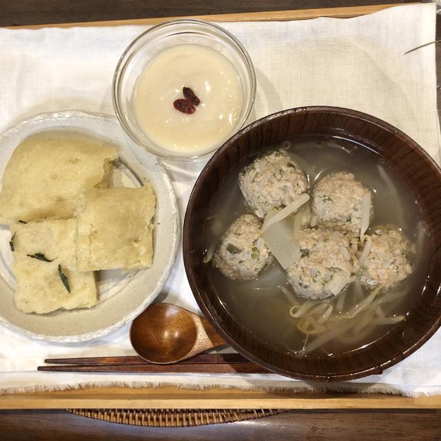 【野草料理】野草爆団子の冬瓜スープと松サイダーのフォカッチャ